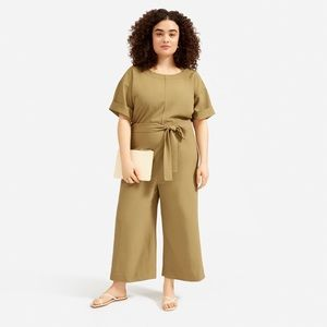Everlane Japanese GoWeave Short-Sleeve Jumpsuit